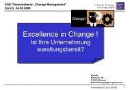 Die Präsentation von Prof. Krüger - SGO