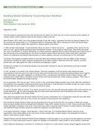 Nuclear Abolition Proposal 2009 - SGI