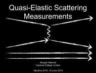 Quasi-Elastic Scattering Measurements - BooNE - Fermilab