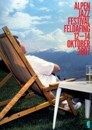 AlpenJazz-Festival vom 12.10. - 14.10. - Jazz am See eV