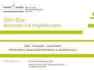 Open Data - Konzepte und Empfehlungen