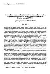 Mechanisms of subsurface thermal structure and sea ... - LEGOS