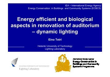 Energy efficient and biological aspects in renovation of auditorium ...