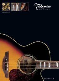 2006 Takamine guitar brochure United Kingdom - Jedistar