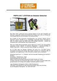 PIEPS A.R.T. STATION am Stubaier Gletscher