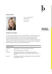 Profil / Curriculum Vitae - Bardehle Pagenberg