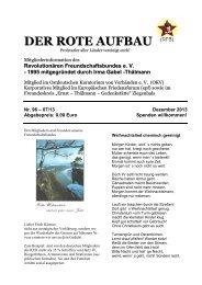 DER ROTE AUFBAU - Triller-online.de