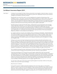 Caribbean Insurance Report 2011 - Research and Markets
