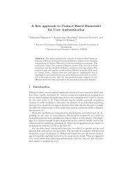A first approach to Contact-Based Biometrics for User Authentication
