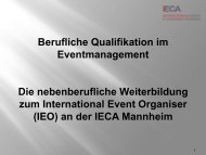 Berufliche Qualifikation im Eventmanagement - ITB Berlin Kongress