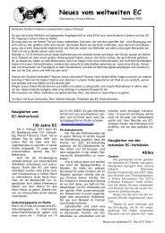 Dezember Ausgabe 2010 - World's Christian Endeavor Union