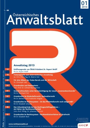 Anwaltstag 2013 - Österreichischer Rechtsanwaltskammertag