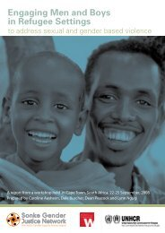 Engaging Men and Boys in Refugee Settings - Women's Refugee ...