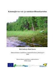 Katumajärven vesi- ja rantakasvillisuuskartoitus - Hämeenlinna