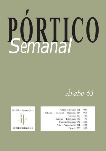 Árabe 63 - Pórtico librerías