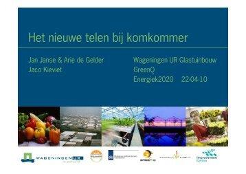 JJ - Energiek 22 april - Nieuwe Telen Komkommer - Energiek2020