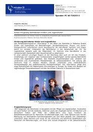 Arbeit mit geistig behinderten Kindern und Jugendlichen - Mission 21