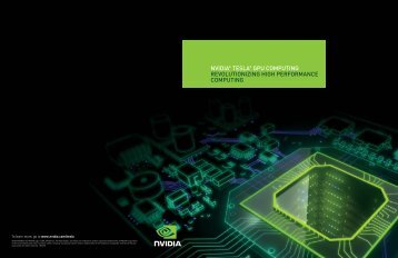nvidia® tesla® gpu computing revolutionizing high performance