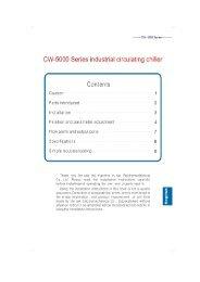 CW-5000 Series industrial circulating chiller