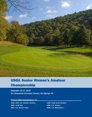 USGA Senior Women's Amateur Championship