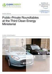 Public-Private Roundtables at the Third Clean Energy Ministerial