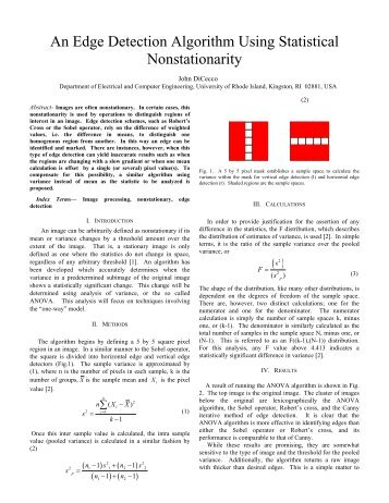 An Edge Detection Algorithm Using Statistical Nonstationarity