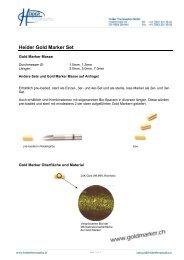 Heider Gold Marker Set - medeo