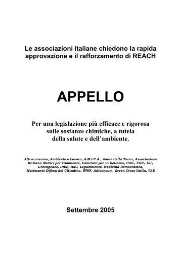 APPELLO - Greenpeace Italia
