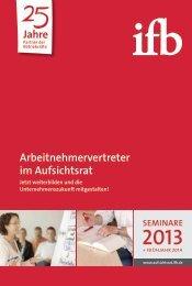 Arbeitnehmervertreter im Aufsichtsrat Jahre - ifb