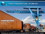 Vision Industries Corp. (OTCBB:VIIC) - Vision Motor Corp