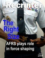 Recruiter - Air Force Recruiting Service - Air Force Link