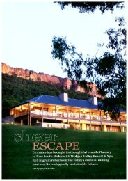 Sheer Escape - Wolgan Valley Resort & Spa