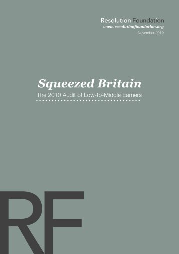 Squeezed Britain - Resolution Foundation