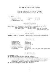 ALGAE-X FUEL CATALYST AFC-705 - Diesel Fuel