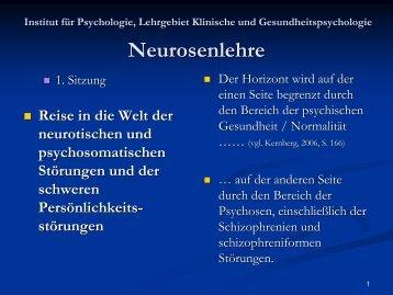 Neurosenlehre - Klinische und Gesundheitspsychologie