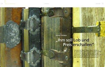 Ihm soll Lob und Preis erschallen - Johannes Gutenberg-Universität ...