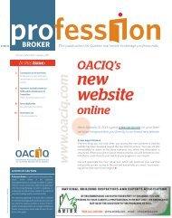 Profession Broker 01-2011 - oaciq