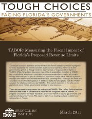 Collins Institute Tough Choices - TABOR - Florida League of Cities