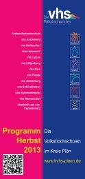Programm Herbst 2013