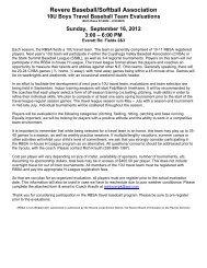 Revere Baseball/Softball Association - Revere Local Schools