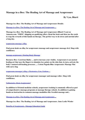 Remedial massage therapy pdf ebooks by cash mel the healing art of massage and acupressure pdf ebooks by vyas fandeluxe Gallery