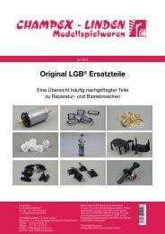 Original LGB® Ersatzteile - Champex-Linden