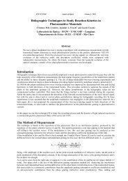 Holographic Techniques to Study Reaction Kinetics in ...