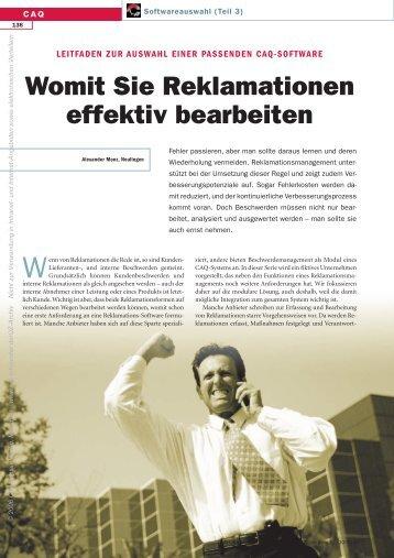 Womit Sie Reklamationen effektiv bearbeiten - QZ-online.de