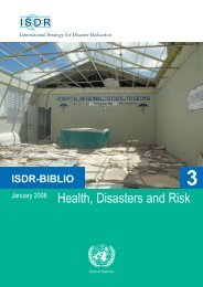 Health, Disasters and Risk