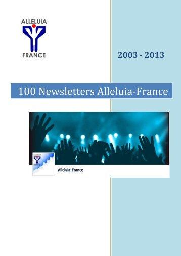 100 Newsletters Alleluia-France