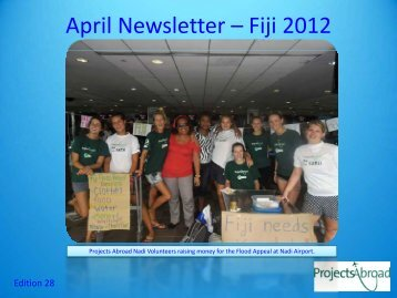 April Newsletter - Fiji - Projects Abroad