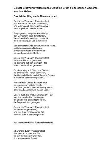 Gedichte Theresienstadt