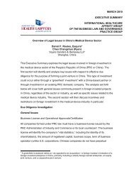 Overview of Legal Issues in China's Medical ... - Squire Sanders