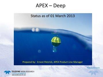 APEX – Deep - Argo